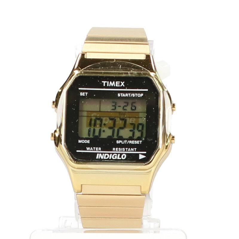 シュプリーム/SUPREME ×タイメックス/TIMEX 【19AW】【Supreme/Timex Digital Watch】ボックスロゴデジタル腕時計(ゴールド)【SB01】【小物】【421191】【中古】bb246#rinkan*S