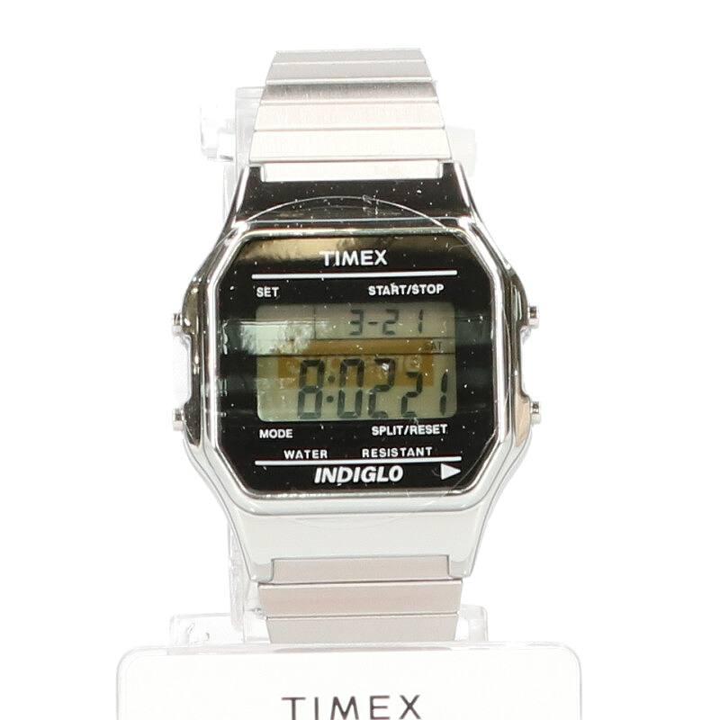 シュプリーム/SUPREME ×タイメックス/TIMEX 【19AW】【Supreme/Timex Digital Watch】ボックスロゴデジタル腕時計(シルバー)【SB01】【小物】【421191】【中古】bb10#rinkan*S