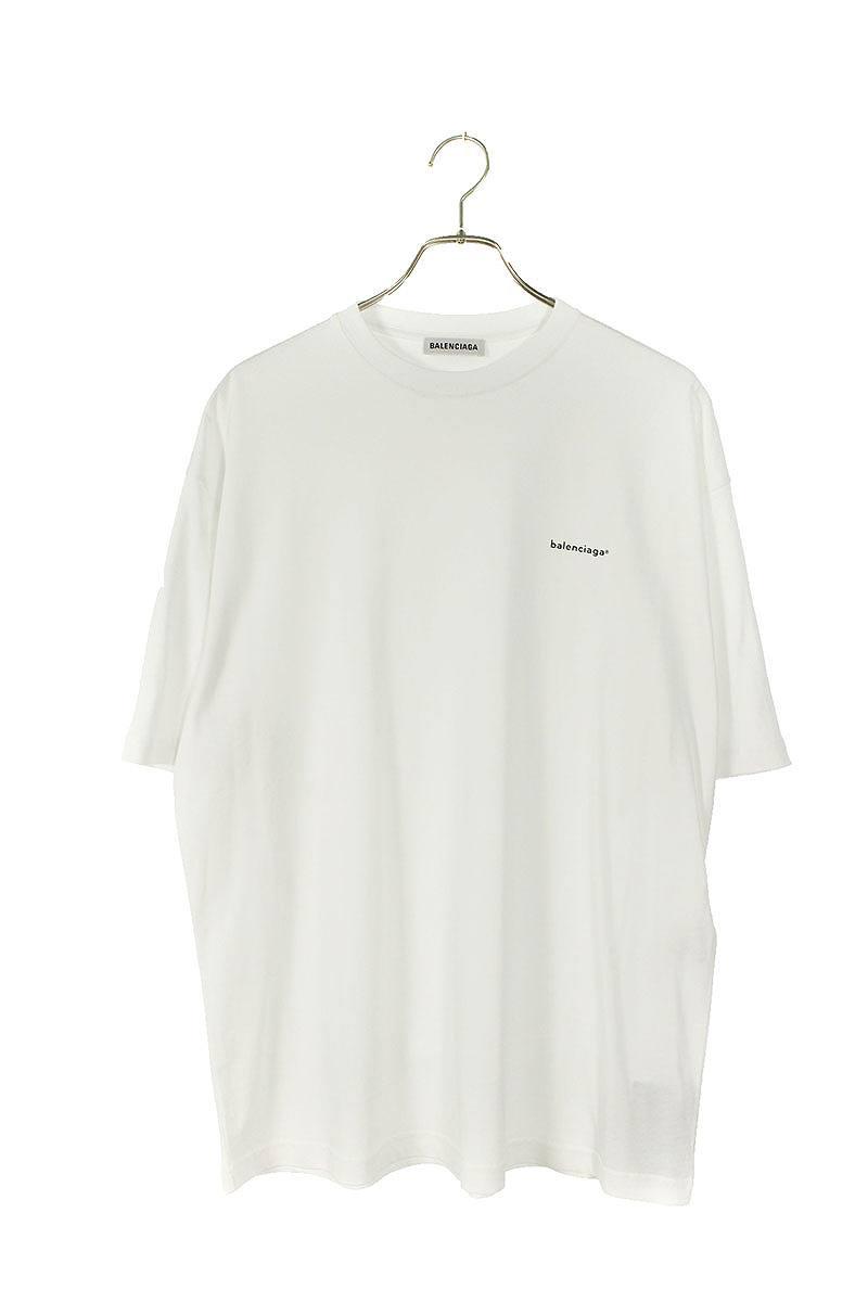 バレンシアガ/BALENCIAGA 【19AW】【583247 TYK28】スモールロゴプリントTシャツ(XS/ホワイト)【HJ12】【レディース】【801191】【新古品】bb20#rinkan*N