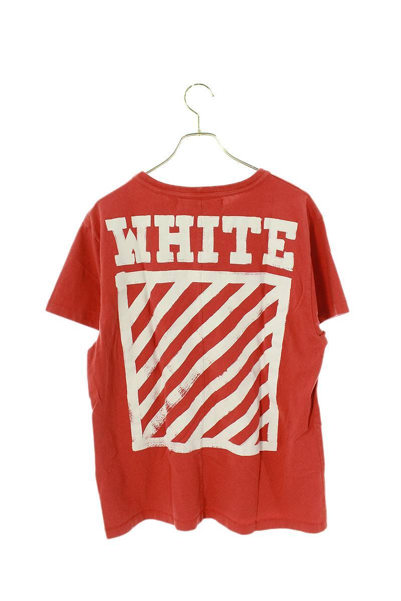 オフホワイト/OFF-WHITE 【16AW】バックダイアゴナルロゴTシャツ(S/レッド)【SB01】【メンズ】【024002】【中古】bb131#rinkan*B