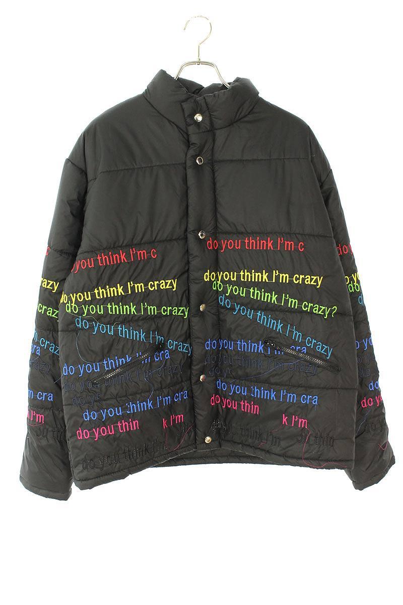 エヴブラバド/EV BRAVADO 英字刺繍ダウンジャケット(XL/ブラック)【BS99】【メンズ】【102191】【中古】【準新入荷】bb18#rinkan*S