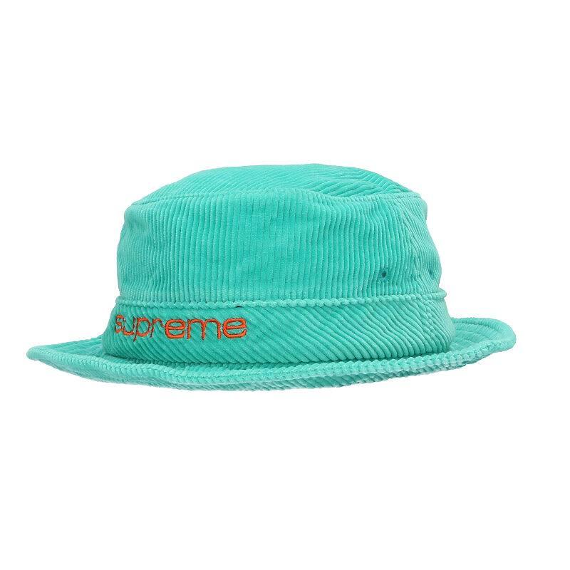 シュプリーム/SUPREME 【19SS】【Compact Logo Corduroy Crusher Hat】コンパクトロゴコーデュロイクラッシャーハット(M/L/グリーン調)【BS99】【小物】【102191】【中古】bb14#rinkan*A