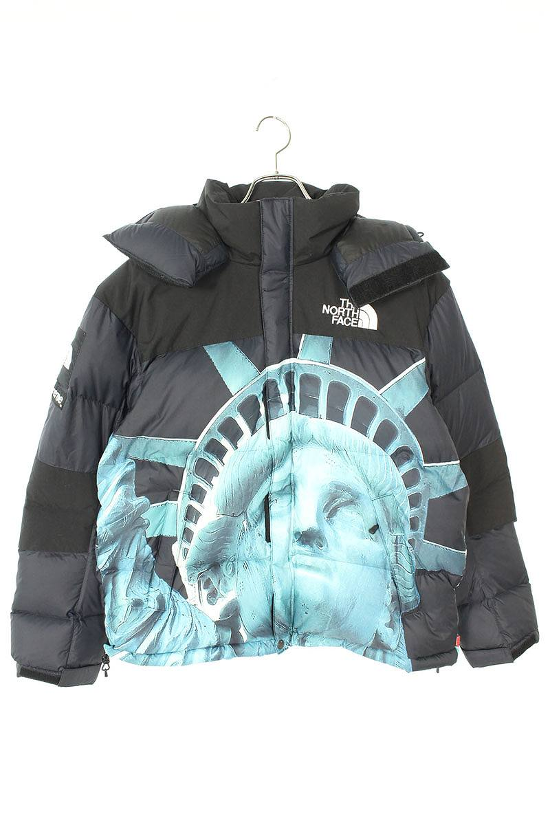 シュプリーム/SUPREME ×ノースフェイス/THE NORTH FACE 【19AW】【Statue of Liberty Baltro Jacket】自由の女神バルトロダウンジャケット(S/ブラック)【PP】【メンズ】【302191】【中古】bb325#rinkan*S