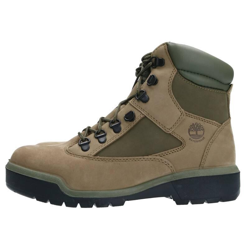 ティンバーランド/Timberland 【TB0A1RBP 6 Inch Field Boots Waterproof】6インチレースアップレザーブーツ(25.5cm/グリーン)【BS99】【メンズ】【小物】【902002】【中古】bb162#rinkan*A