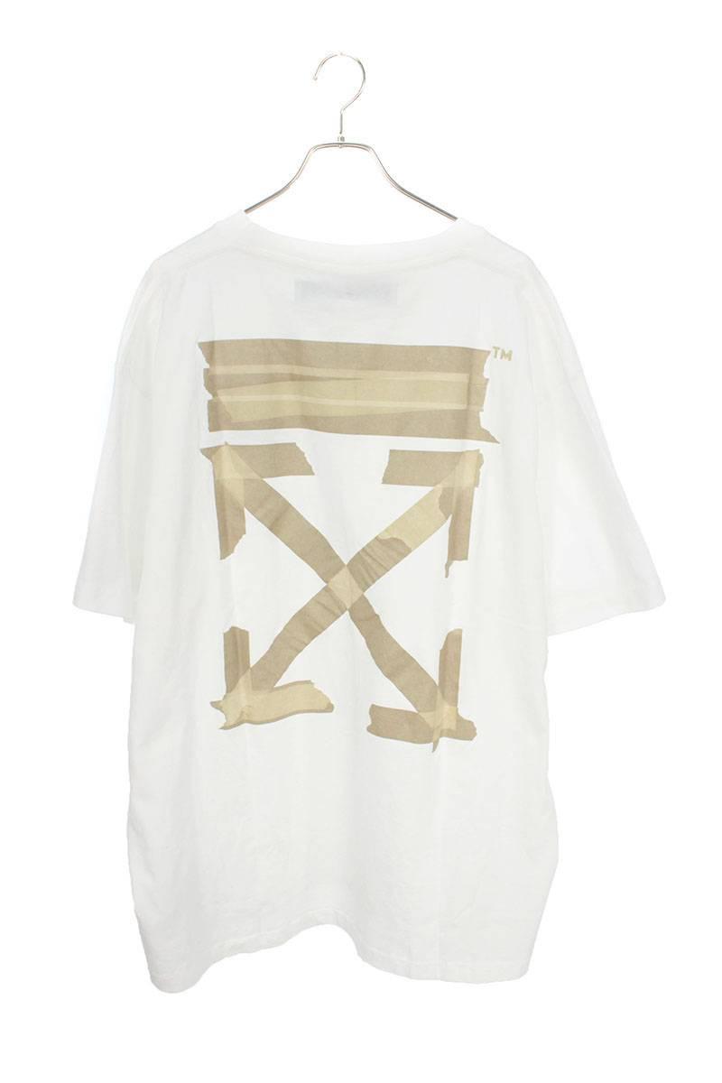 オフホワイト/OFF-WHITE 【20SS】【ARROWS S/S OVER T-SHIRT】バックテープアロープリントオーバーサイズTシャツ(S/ホワイト)【SB01】【メンズ】【702002】【新古品】bb20#rinkan*N