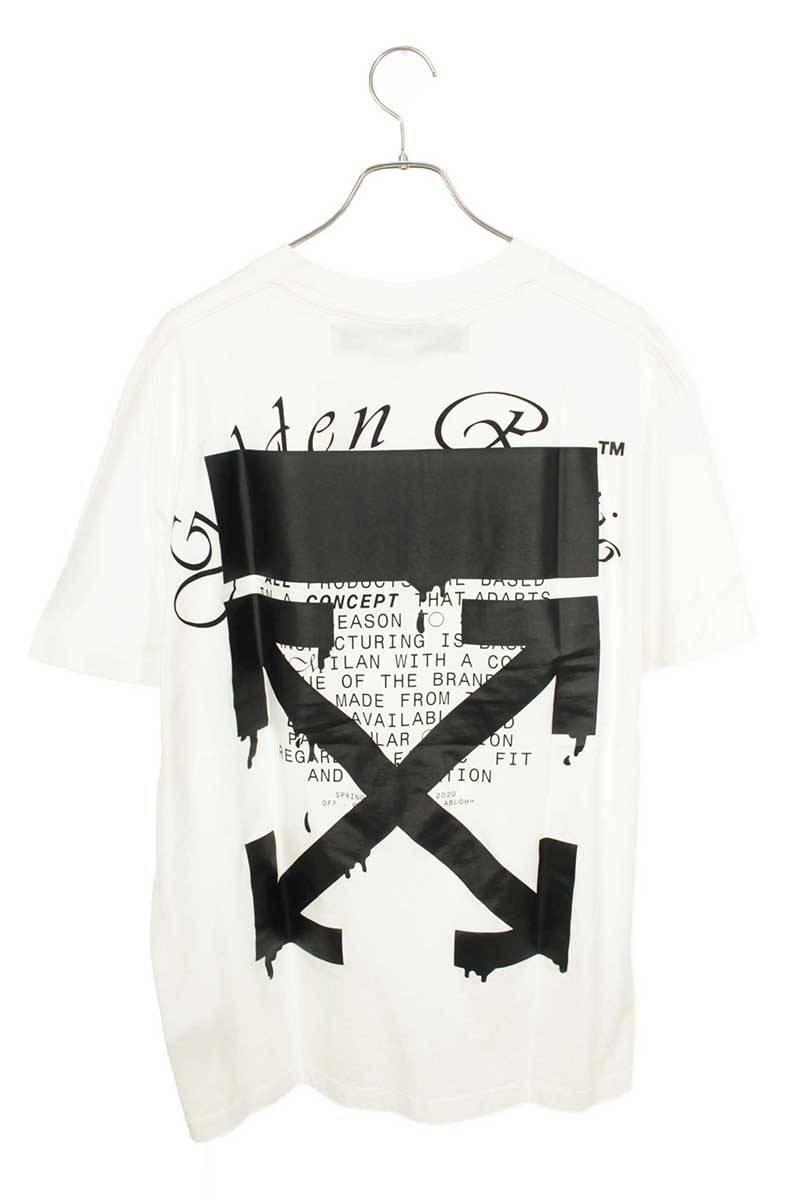オフホワイト/OFF-WHITE 【20SS】【RIPPING ARROWS S/S OVER TEE】バックアロープリントTシャツ(M/ホワイト)【HJ12】【メンズ】【103002】【新古品】bb20#rinkan*N