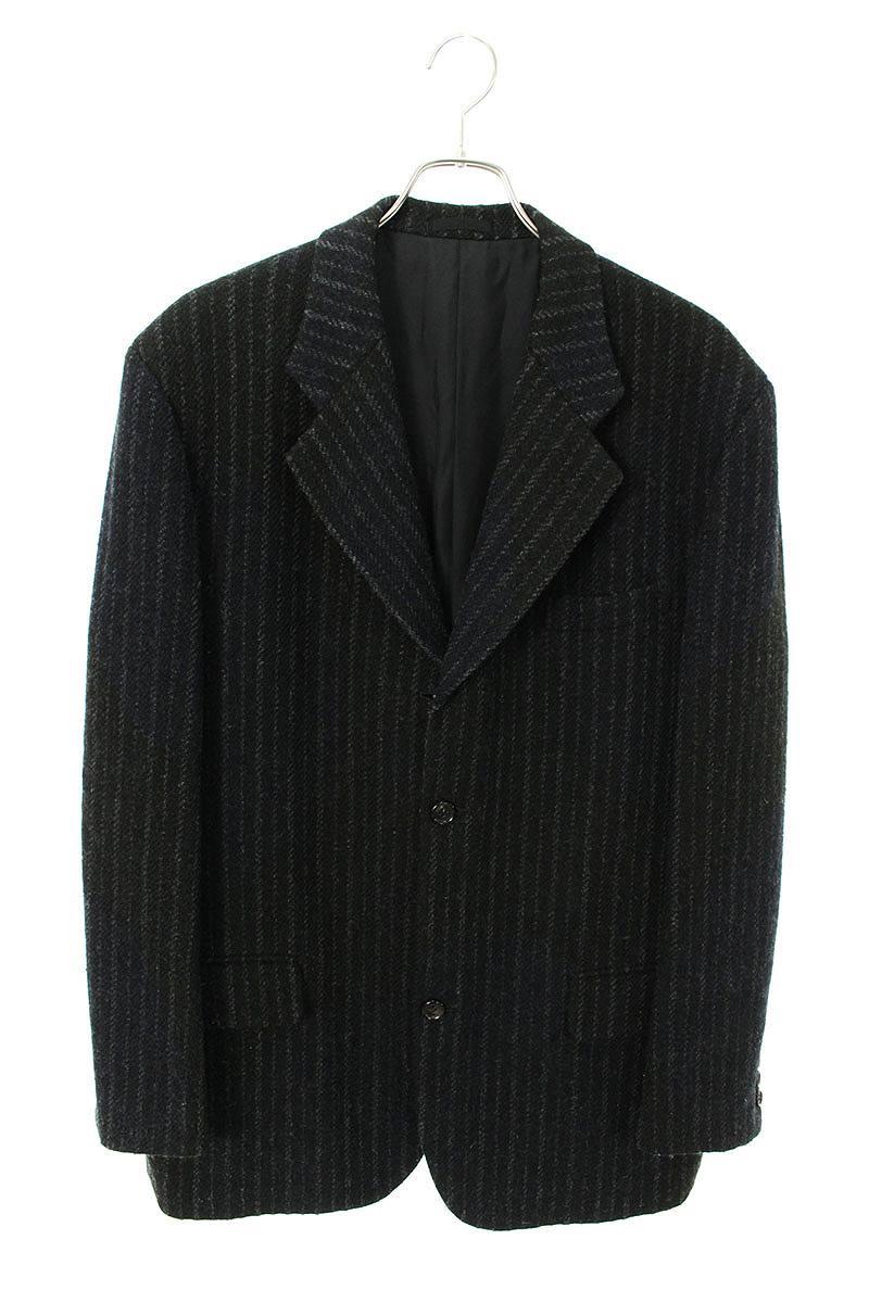 コムデギャルソンオム/COMME des GARCONS HOMME 【HJ-07011L】AD1998 ウールジャケット(L/ブラック×ネイビー)【BS99】【メンズ】【903002】【中古】bb177#rinkan*B