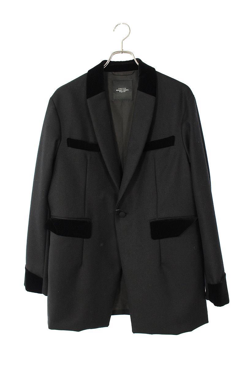 アンユーズド/UNUSED 【18AW】【US1511】ベロア切替1Bジャケットコート(1/ブラック)【BS99】【メンズ】【704002】【中古】bb127#rinkan*A