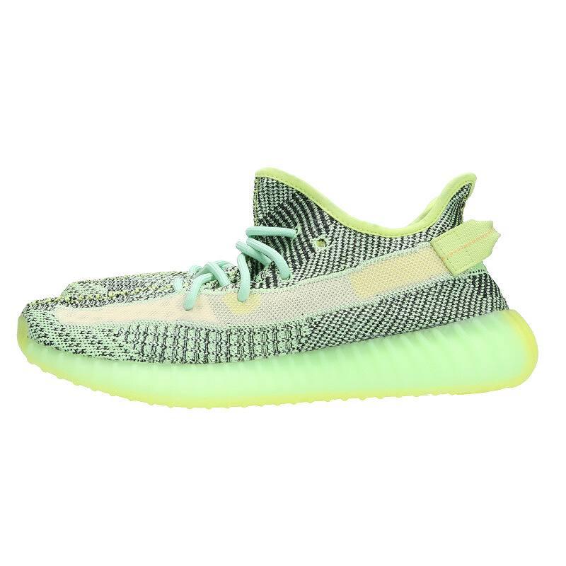 アディダス カニエウエスト/adidas Kanye West サイズ:27.5cm 【YEEZY BOOST 350 V2 YEEZREEL GLOW RF】【FX4130】ローカットスニーカー(ライトグリーン調)【SB01】【メンズ】【小物】【804002】【中古】bb131#rinkan*S