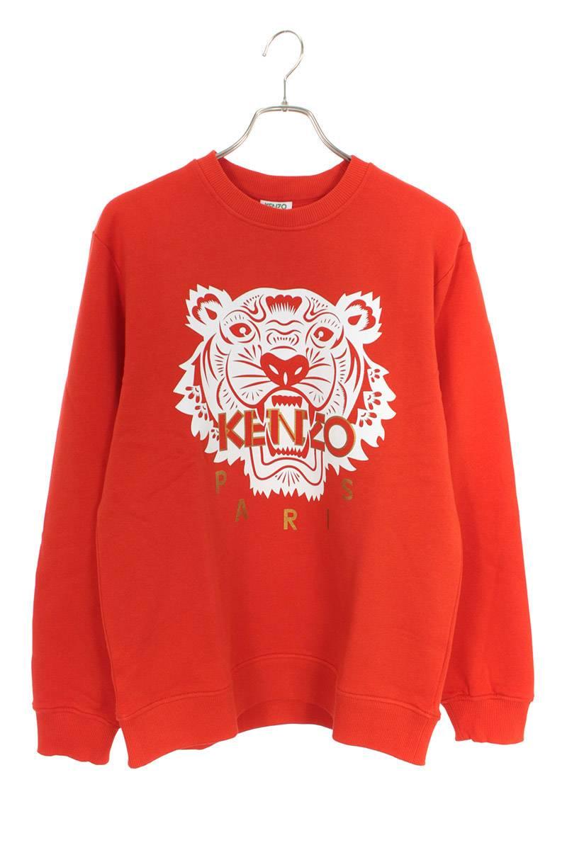 ケンゾー/KENZO 【FA55SW1264Z5】タイガーラバープリントスウェットカットソー(XS/レッド×ホワイト)【OS06】【メンズ】【105002】【新古品】bb20#rinkan*N
