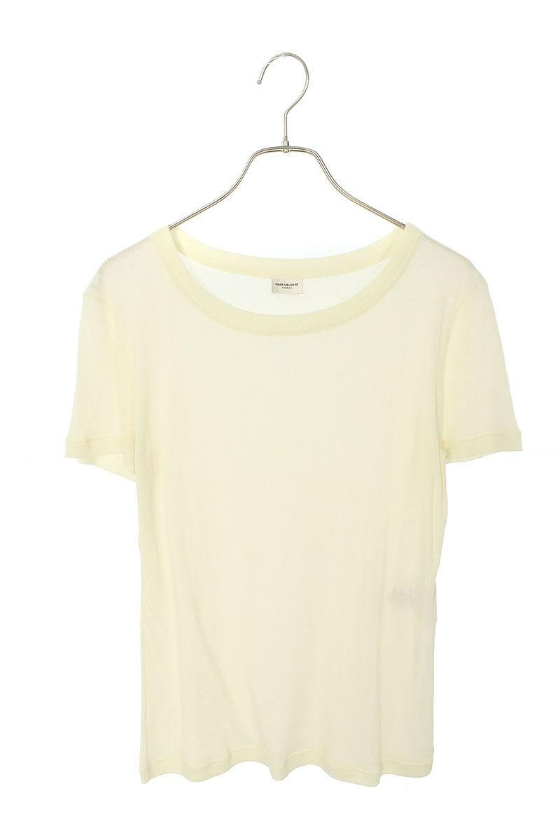 サンローランパリ/SAINT LAURENT PARIS 【499839 YB2OZ】リブTシャツ(XS/ホワイト)【BS99】【レディース】【525002】【中古】bb51#rinkan*B