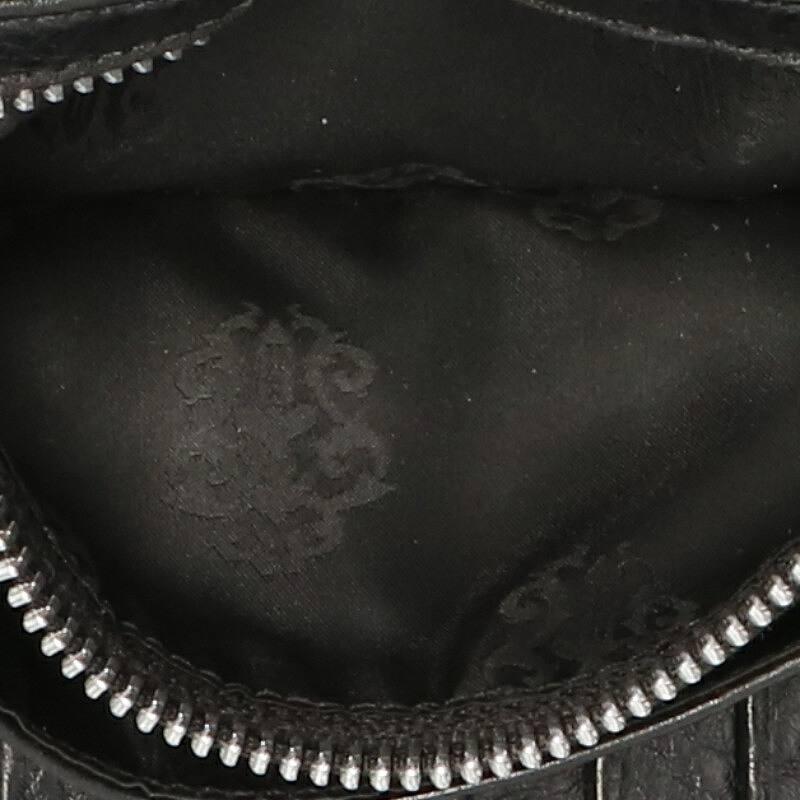 クロムハーツ Chrome HeartsWAVE CROSS BALL ウェーブ クロスボールボタンレザーウォレット財布 ブラック×シルバーSS07小物116002 bb17 rinkan BTFK1lJc