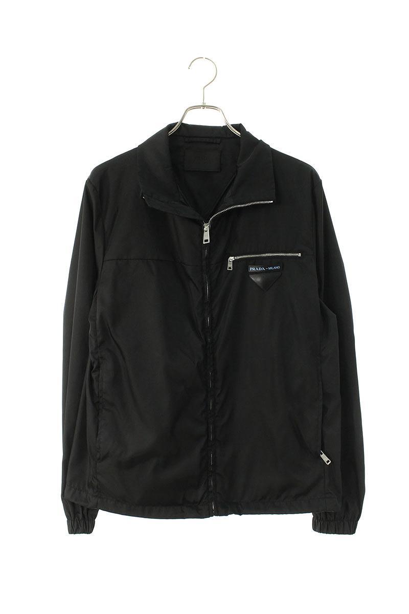 プラダ/PRADA 【19AW】【Puffer Jacket With Contrast Lining SGN836】ナイロンギャバジンジップアップブルゾン(44/ブラック)【BS99】【メンズ】【716002】【中古】bb30#rinkan*A