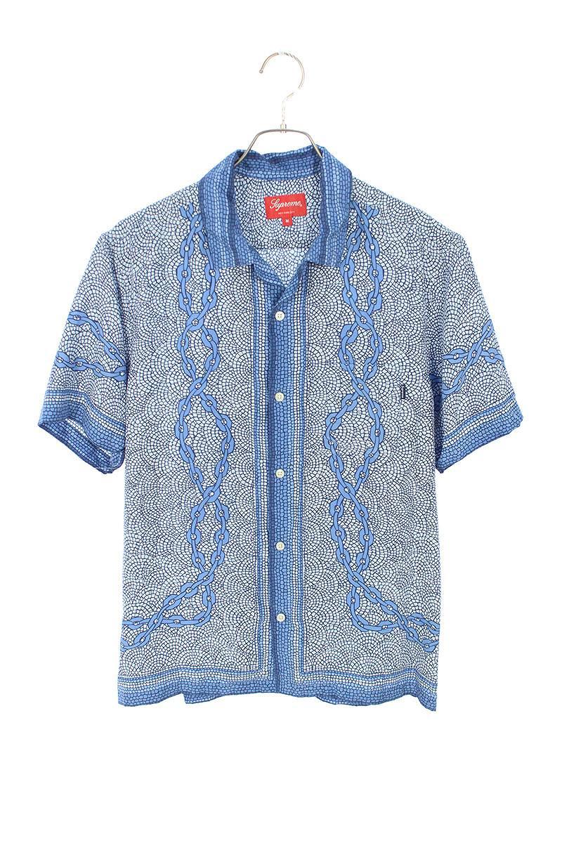 【日本限定モデル】 シュプリーム/SUPREME サイズ:M 【20SS】【Mosaic Silk S/S Shirt】モザイクシルク半袖シャツ(ブルー)【BS99】【メンズ】【310102】【】bb131#rinkan*A, リスカイ 65a38872