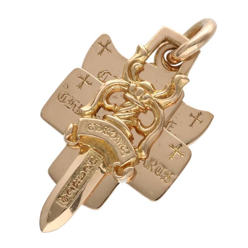 【人気商品!】 クロムハーツ/Chrome Hearts 【22K 3TRINKETS/22Kスリートリンケッツ】ゴールドネックレストップ(イエローゴールド【22K/32.79g) Hearts 【NO05】【小物】【904012】【】bb209#rinkan*B, Smart Connection:60b65589 --- kidsarena.in