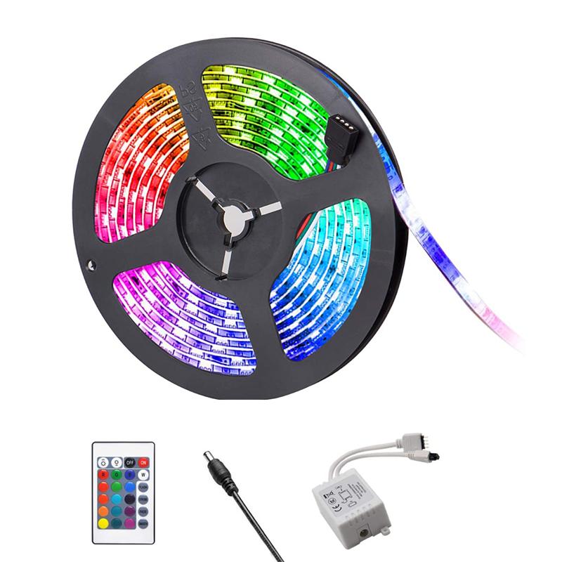LEDテープ 5M 防水 RGB LEDテープライト 300連SMD5050 LEDライト ledテープ 5m LEDテープライトセット 市販 12V SMD5050防水 棚下照明 舗 黒ベース 300連 調光 マルチカラー 調色 看板照明 リモコン操作 LED 間接照明