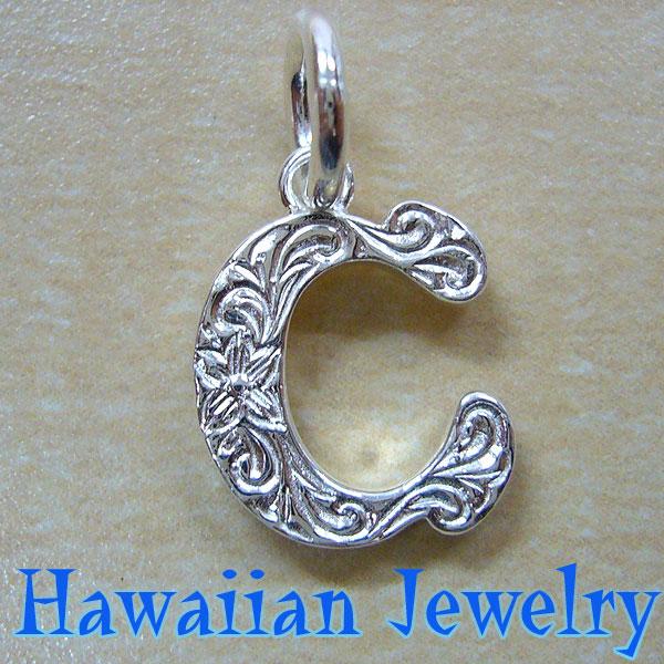 送料無料 Hawaiian Jewelry ハワイアンジュエリー イニシャル 人気の製品 ペンダント ブランド買うならブランドオフ トップ シルバー925 C