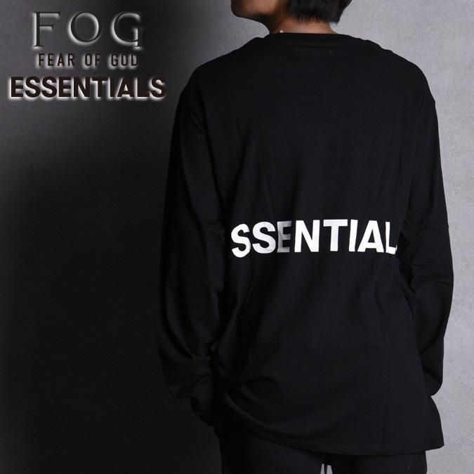 FOG ESSENTIALS エフオージーエッセンシャルズ フォグエッセンシャルズ LS TEE メンズ Tシャツ クルーネック 長袖 プリント ロゴ ルーズ ビッグT FEAR OF GOD フィアオブゴッド S-XL