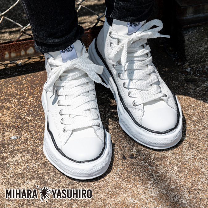 Maison MIHARA YASUHIRO メゾン ミハラヤスヒロ Original sole leather hitop sneaker メンズ スニーカー ハイカット ダックテイラー