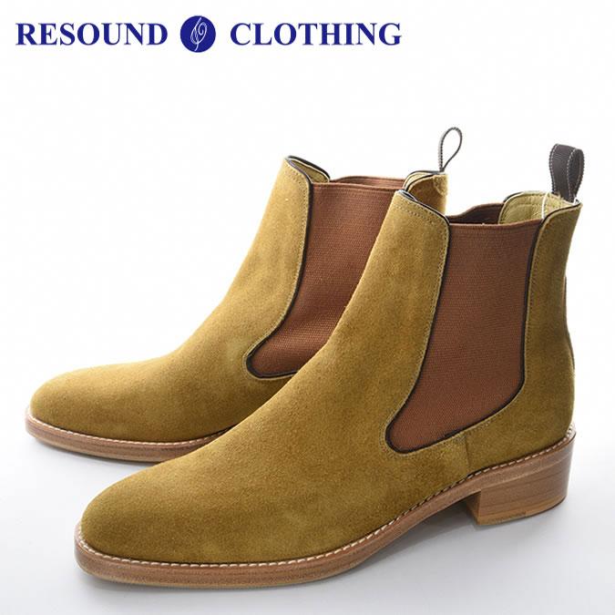 RESOUND CLOTHING リサウンド クロージング SLAP メンズ サイドゴア ブーツ スウェード ベージュ 牛革 レザー 定番 西海岸 アメカジ カジュアル 25.5-28.0 S-L RC-BASIC-BOOTS1