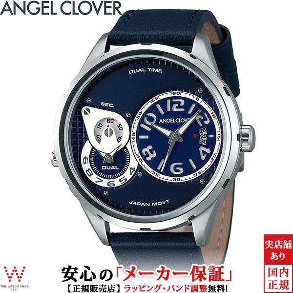 【2,000円クーポン有/3月21日20時~】エンジェルクローバー [Angel Clover] デュエル [Duel] DU47SNV-NV メンズ デュアルタイム(2ヵ国表示) 腕時計 時計 [誕生日 プレゼント お買い物マラソン]