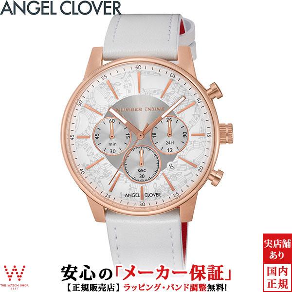 【2,000円クーポン有/3月21日20時~】エンジェルクローバー [Angel Clover] ナンバーナイン [NUMBER (N)INE] NNC42PWH-WH ファッション レザー ブランド メンズ 腕時計 時計 [誕生日 プレゼント お買い物マラソン]