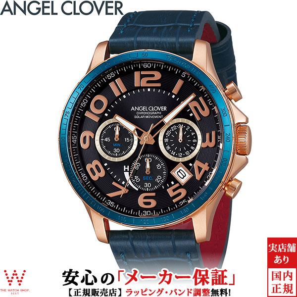 エンジェルクローバー [Angel Clover] ルーチェ ソーラー [LUCE SOLARE] LUS44P-NV セラミックベゼル レザー クロノグラフ 日付表示 パワーリザーブ メンズ 腕時計 時計 [ラッピング ギフト プレゼント]