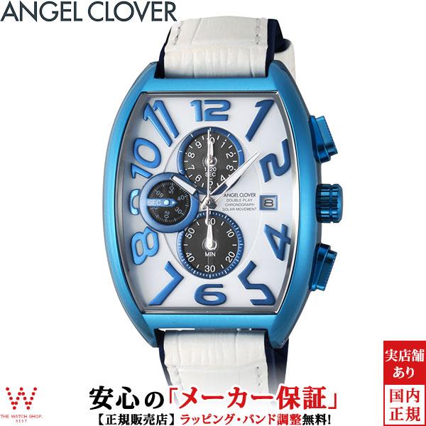 【1,000円OFFクーポン有】エンジェルクローバー [Angel Clover] ダブルプレイ ソーラー [Double Play Solar] DPS38BNV-WH メンズ 腕時計 時計 [誕生日 プレゼント 贈り物 母の日]