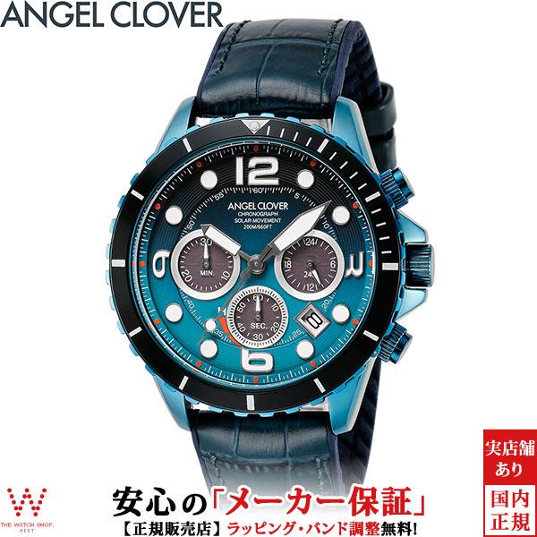 【2,000円OFFクーポン有】エンジェルクローバー [Angel Clover] タイムクラフト ダイバー [TIME CRAFT DIVER] メンズ 腕時計 ソーラー クロノグラフ 日付 ネイビー TCD45NNG-NV [誕生日 プレゼント ホワイトデー ギフト]