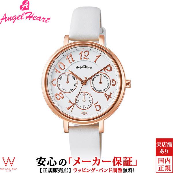 エンジェルハート [Angel Heart] ウィッシュスター [Wish Star] WS33PWH 日本製ソーラー 日付 曜日表示 天然ダイヤ レディース 腕時計 時計 [誕生日 プレゼント ギフト 贈り物]