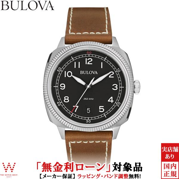 【無金利ローン可】 ブローバ ブローバ [BULOVA] MILITARY [ミリタリー] 96B230 レザーバンド 腕時計 時計 [誕生日 プレゼント ギフト 贈り物]