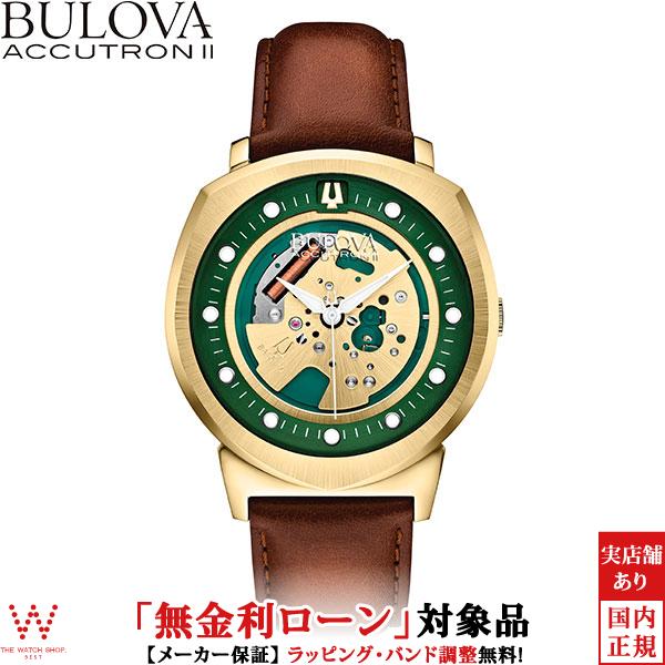 【無金利ローン可】 ブローバ ブローバ アキュトロン2 [BULOVA ACCUTRON II] ALPHA2014 [アルファ2014] 97A110 カーフレザー 腕時計 時計 [誕生日 プレゼント ギフト 贈り物]