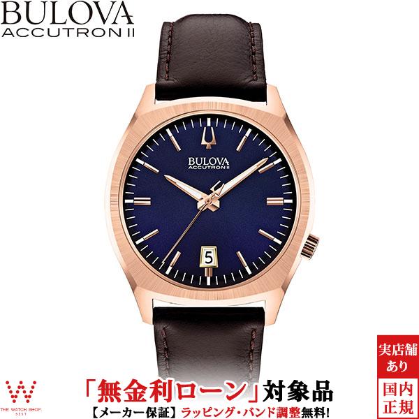 【無金利ローン可】 ブローバ ブローバ アキュトロン2 [BULOVA ACCUTRON II] SURVEYOR [サーベイヤー] 97B133 カーフレザー 腕時計 時計 [誕生日 プレゼント ギフト 贈り物]