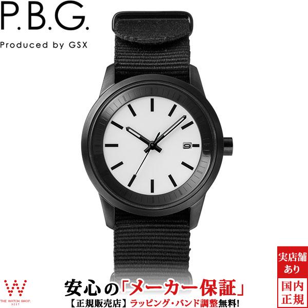 ピー・ビー・ジー [P.B.G.] [Produced by GSX] P.B.G.01-1 ソーラー ナトータイプバンド ブラック メタルバンド付 カレンダー シンプル ミリタリー メンズ レディース 腕時計 時計 [誕生日 プレゼント ギフト 贈り物]