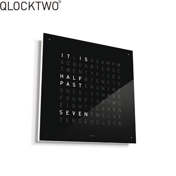 ≪2,000円OFFクーポン!≫クロックツー[QLOCKTWO]ショッピングローン無金利対象品クロックツー クラシック[QLOCKTWO CLASSIC]BLACK ICE TEA 黒 QU3ENBI【腕時計 時計 置き時計】