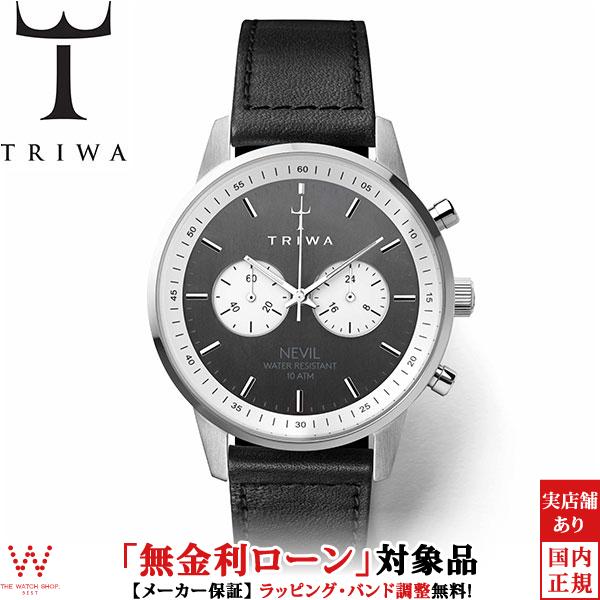 【2,000円クーポン有/3月21日20時~】トリワ [TRIWA] スレート ネヴィル [SLATE NEVIL] NEST118-SC010112 レザー ブラック メンズ レディース 腕時計 時計 [誕生日 プレゼント お買い物マラソン]