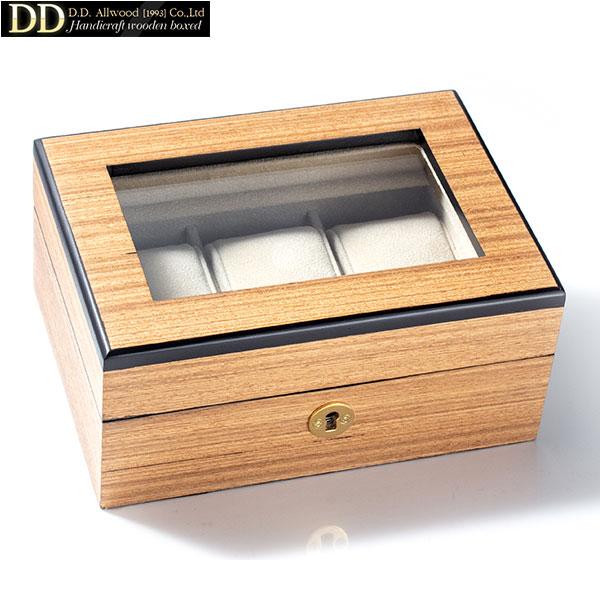 ディーディーオールウッド [DD ALL WOOD] 腕時計3本収納 [Watch case 3pcs] コレクションケース ウォッチケース WW3011FTNO 窓有り メンズ 腕時計 時計 [誕生日 プレゼント ギフト 贈り物]