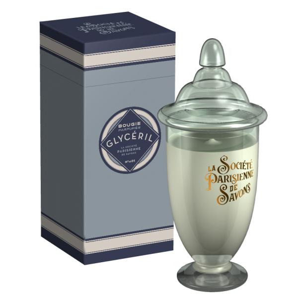 ParisienneDeSavonsパリジェンヌドゥサヴォン グラスキャンドルLサイズ(ボックス入り)350g グリセリルGlyceril(4222)