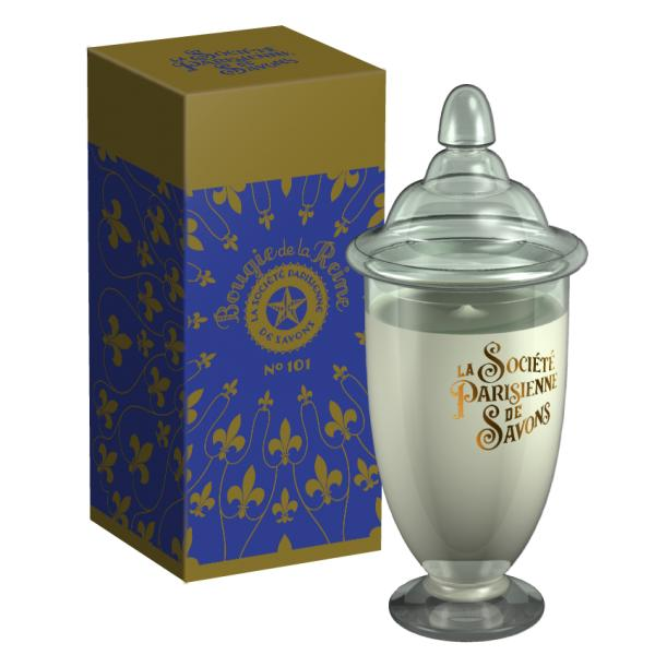 ParisienneDeSavonsパリジェンヌドゥサヴォン グラスキャンドルLサイズ(ボックス入り)350g レーヌReine(4224)