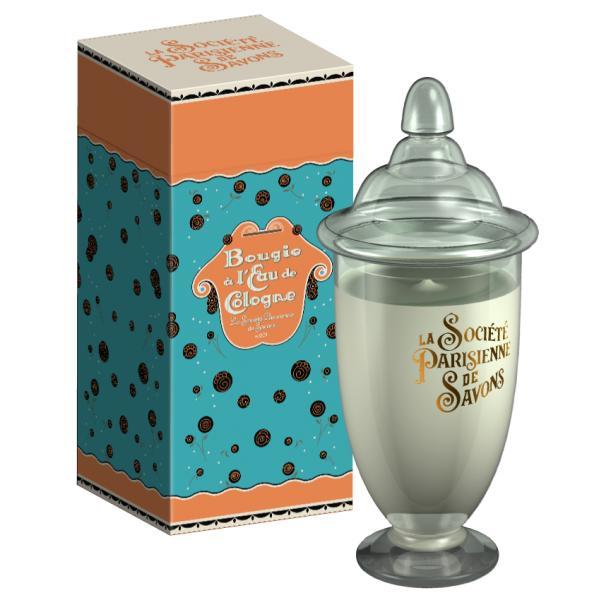 ParisienneDeSavonsパリジェンヌドゥサヴォン グラスキャンドルLサイズ(ボックス入り)350g オードゥコローニュL'eauDeCologne【4226】
