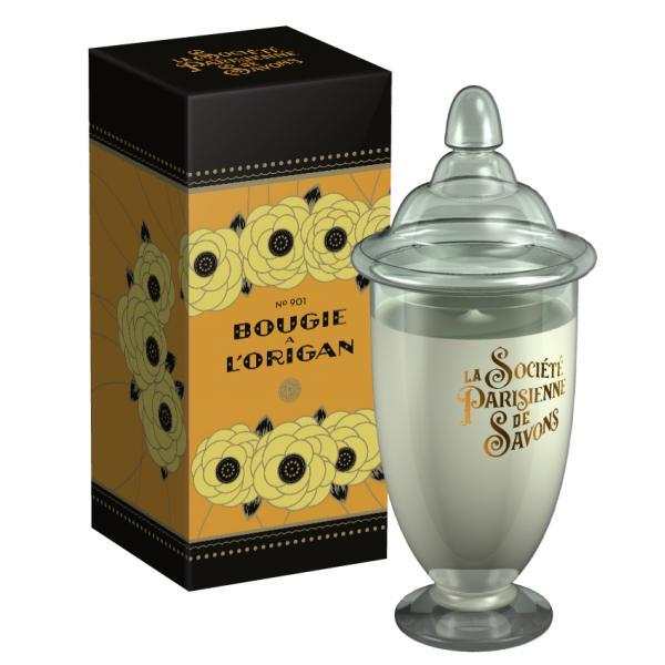 ParisienneDeSavonsパリジェンヌドゥサヴォン グラスキャンドルLサイズ(ボックス入り)350g オリガンL'Origan【4227】