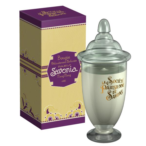ParisienneDeSavonsパリジェンヌドゥサヴォン グラスキャンドルLサイズ(ボックス入り)350g サヴォニアSavonia【4230】