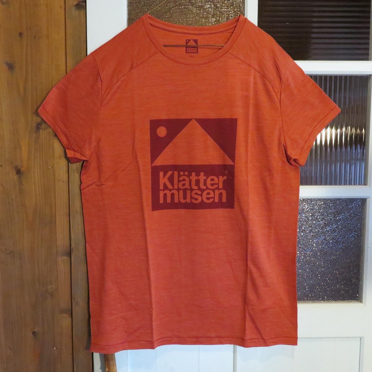KLATTERMUSEN(クレッタルムーセン) Eir Teeイールティー M's REDWOOD Mサイズ 【Tシャツ】【正規輸入品】【メンズ】