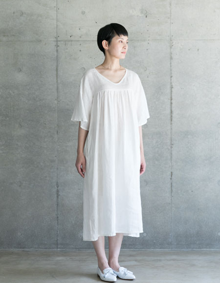fog linen work ミリアム ワンピース ホワイトWHITE【フォグリネンワーク】【一部地域送料無料】