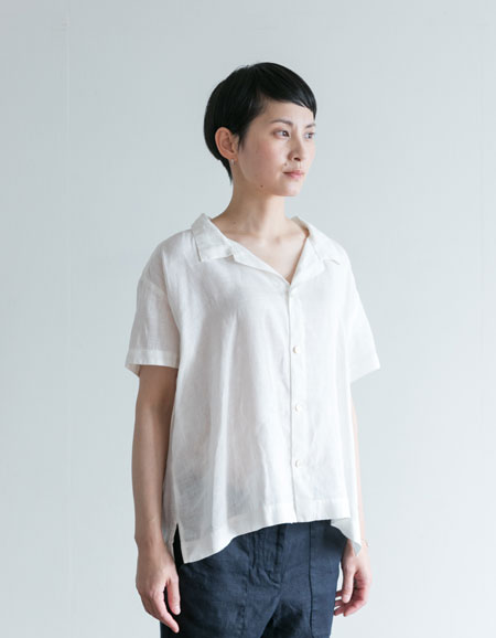 fog linen work ステラ シャツ ホワイトWHITE【フォグリネンワーク】【一部地域送料無料】
