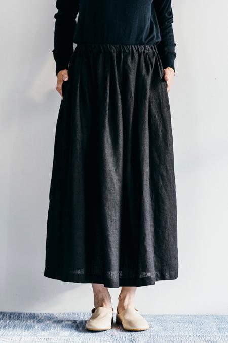 fog linen work アラーナ タックスカート ブラックBLACK【フォグリネンワーク】【一部地域送料無料】