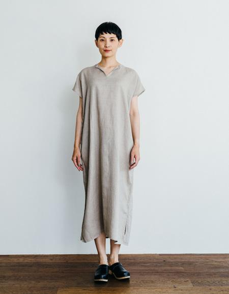 フォグリネンワーク (fog linen work)リリー フレンチスリーブナイトシャツ