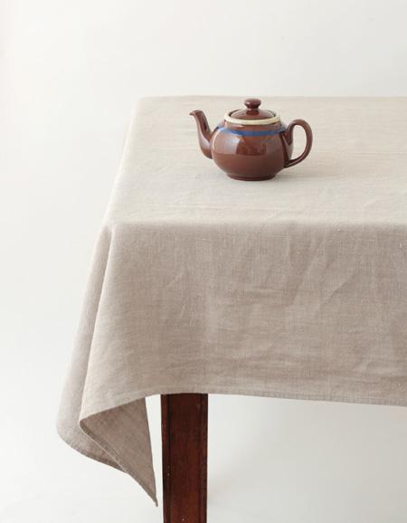 Fog Linen Work Linen Tablecloth S Natural
