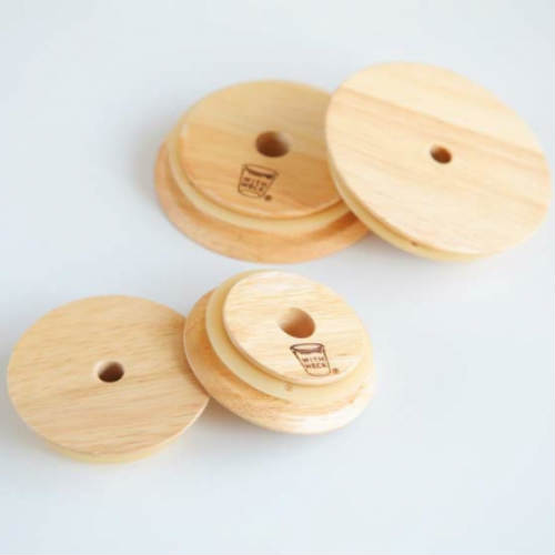 様々な用途に使える穴開き木フタ weckFLAT TOP 日本正規代理店品 WOODEN HOLE Sサイズ w 全店販売中 LID