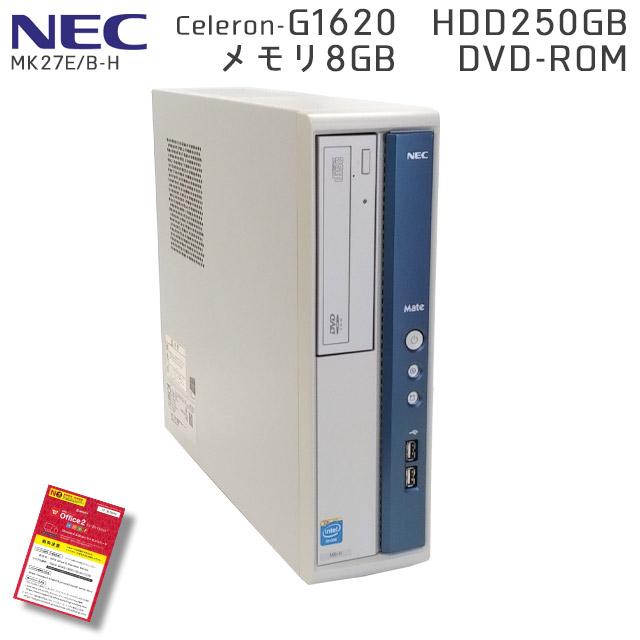 楽天市場】中古パソコンNEC Mate MK27E/B-H Windows10 Celeron-2.7Ghz ...